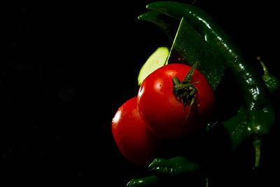046/365 - Tomato, green pepper and zucchini