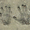 "<b>Day 250—8 July 2012 All hands on deck!</b>  I should have read the ""inscription"" next to the handprints. Maybe it would have told me whether the handprints belong to lovers, or siblings, or BFFs, or. . . ."