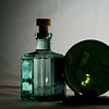 2/365<br /> <br /> Green candle holder and my bottle. Shot as is.