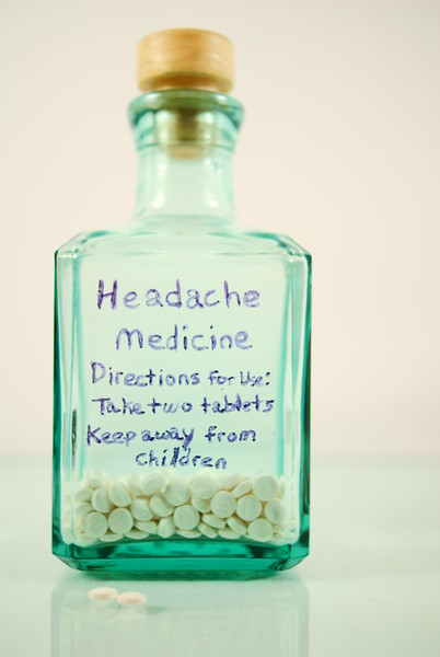 Headache Advice<br /> <br /> 97/365<br /> If you have a headache, do what the bottle says, take two and keep away from children.