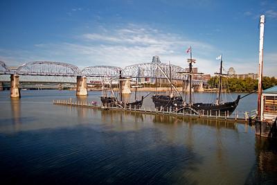 Nina and Pinta, Ohio River.