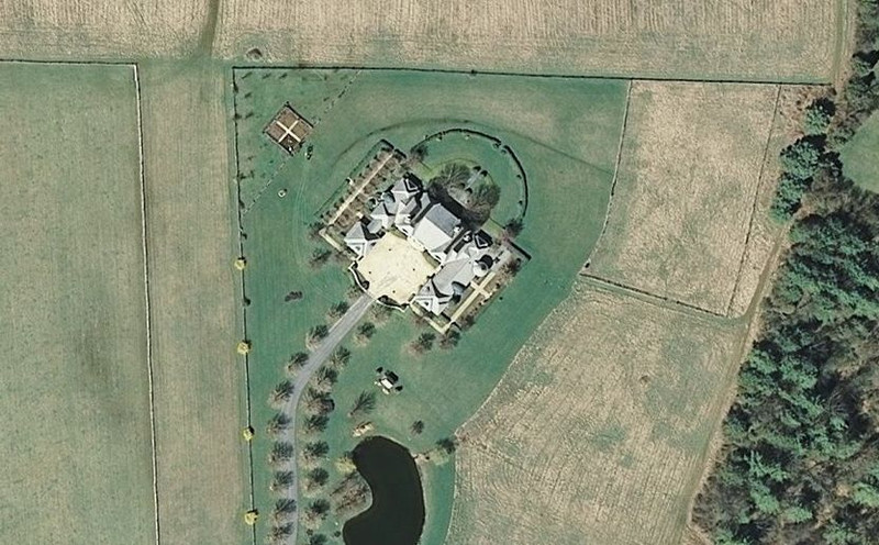 00-Satellite View-French Country Garden on far right side of home