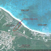 7 Acre, 250 feet Beach & Ocean frontage, property covered with palm trees