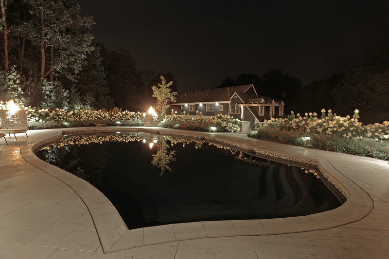 LED lights=Lights OFF to form Reflecting Pond