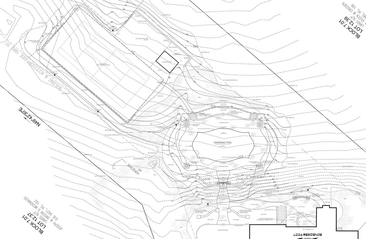 Landscape Master Plan - Chester, NJ pool design