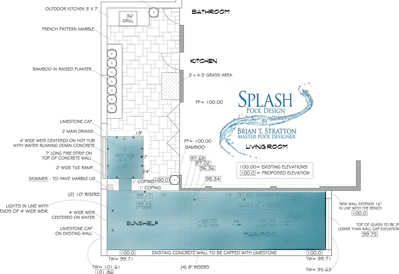 SPLASH Custom Pool Design by Brian T Stratton