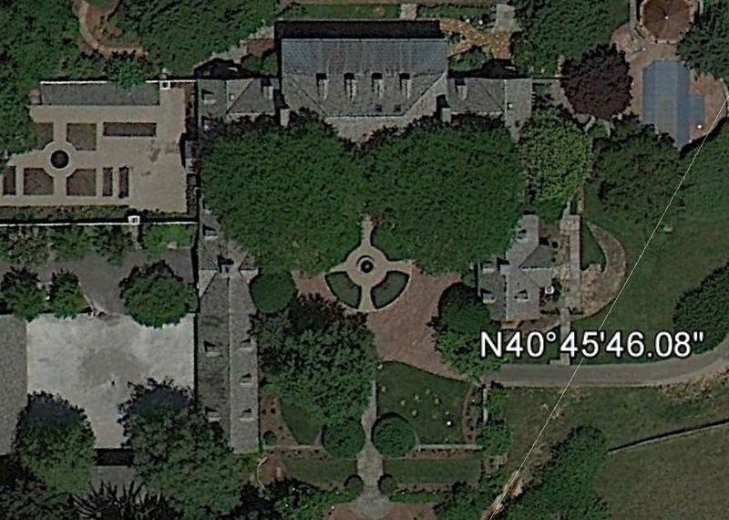 My garden from Google Earth, serving as the centermost focal point to organize the entire architectural elements of the site.