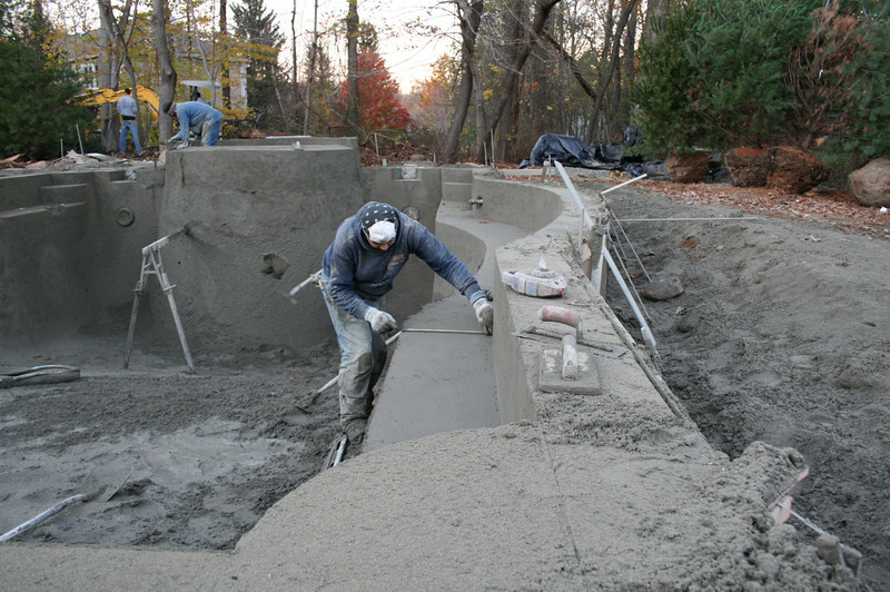 Gunite Shaping