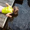 "I can touch the bottom! - Week 29: ""Summer""<br /> <br /> What can build summer memories more than going out to the dock at the summer house before breakfast and poking things in the water with a stick?"