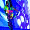 Liquid Light Show and Black Light in a Bikini