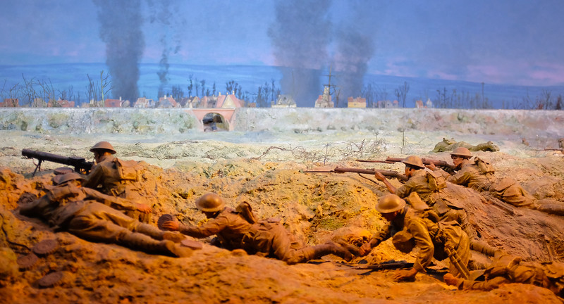 Model of French Trenches in WW1 , Australian War Memorial
