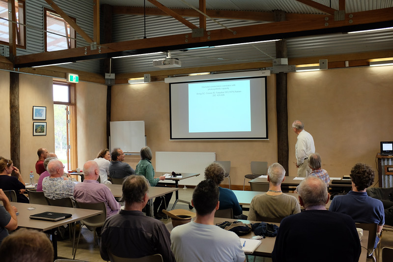 Barry Osmond, Opening the Wong-Farquhar Workshop, March 2015, Kioloa.