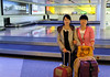 Donquin Yin arrives at Canberra airport. Met by Yanfang Wang.
