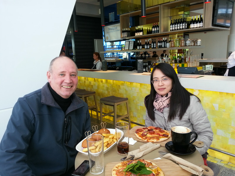 Dongqin Yin, At Canberra airport before returning home to China.