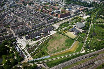Luchtfoto's stad en steden, Haarlem van boven