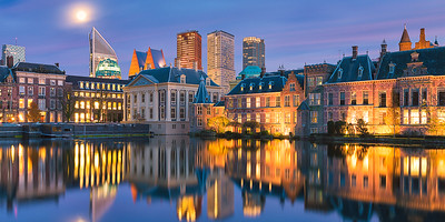 Full moon over the Hofvijver - The Hague, The Netherlands
