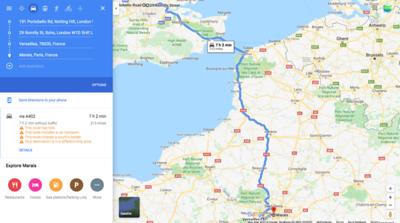 7 hrs travel time London - Paris馃搷