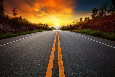 road-at-the-sunset-unknown