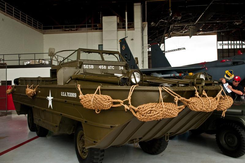 110416_Seymour-Johnson Air Show_107   Ok, ok, it isn't a plane but it was an important part of the war. Amphibious vehicle.