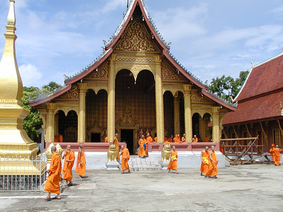 Classes Out for the Young Monks of Wat Xieng Thong