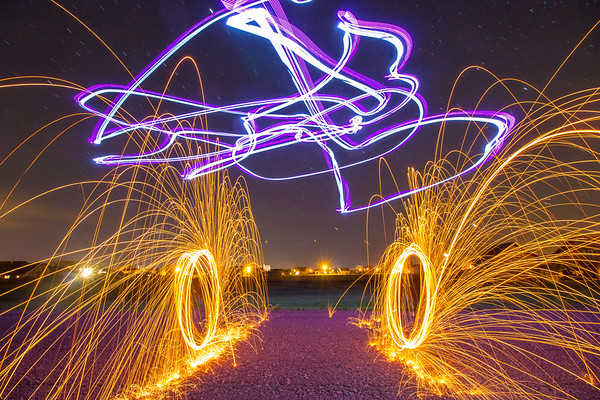 Drone Light Painting