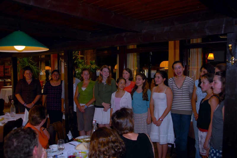 The girls did one last encore for everyone at the dinner.