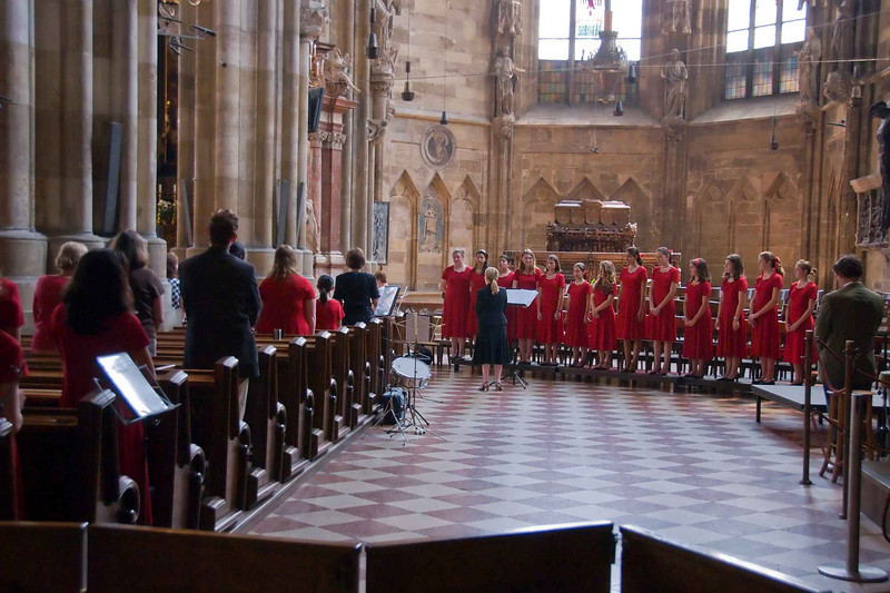 During the mass while most of the worshippers were in the main nave, Casti friends and family flocked to the south nave where they could get a good look at the musicians!