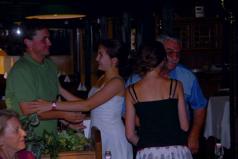Andrej, the tour guide was presented with a gift from all the girls.