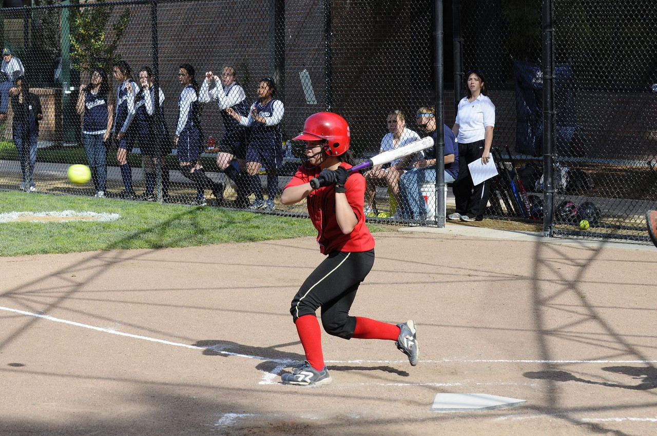 Castilleja Softball 1/ 750s, at f/8 || E.Comp:0 || 70mm || WB: AUTO 0. || ISO: 560 || Tone:  || Sharp:  || Camera: NIKON D300on: 2009:03:20 16:01:10