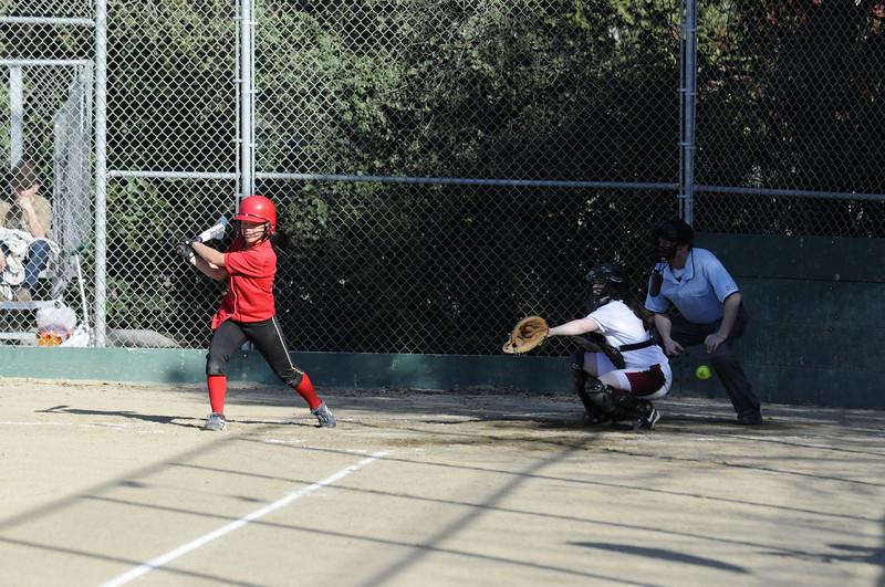 Castilleja Softball 1/ 4000s, at f/4 || E.Comp:0 || 125mm || WB: AUTO 0. || ISO: 800 || Tone:  || Sharp:  || Camera: NIKON D300on: 2009:03:19 16:49:08