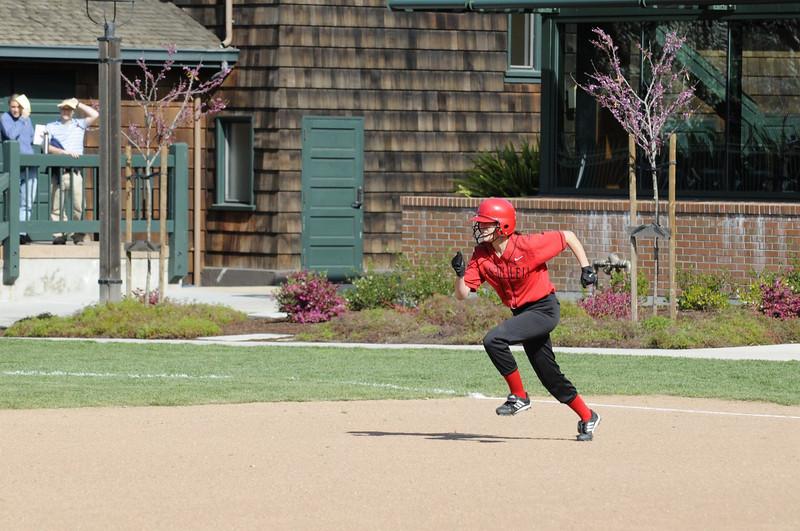 Castilleja Softball 1/ 1000s, at f/8 || E.Comp:0 || 160mm || WB: AUTO 0. || ISO: 560 || Tone:  || Sharp:  || Camera: NIKON D300on: 2009:03:20 15:53:23