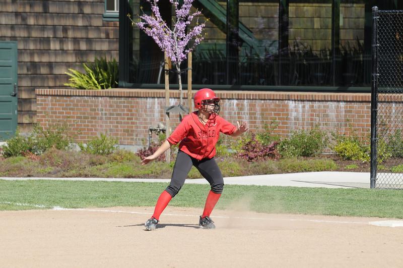 Castilleja Softball 1/ 1000s, at f/8 || E.Comp:0 || 190mm || WB: AUTO 0. || ISO: 560 || Tone:  || Sharp:  || Camera: NIKON D300on: 2009:03:31 16:12:17