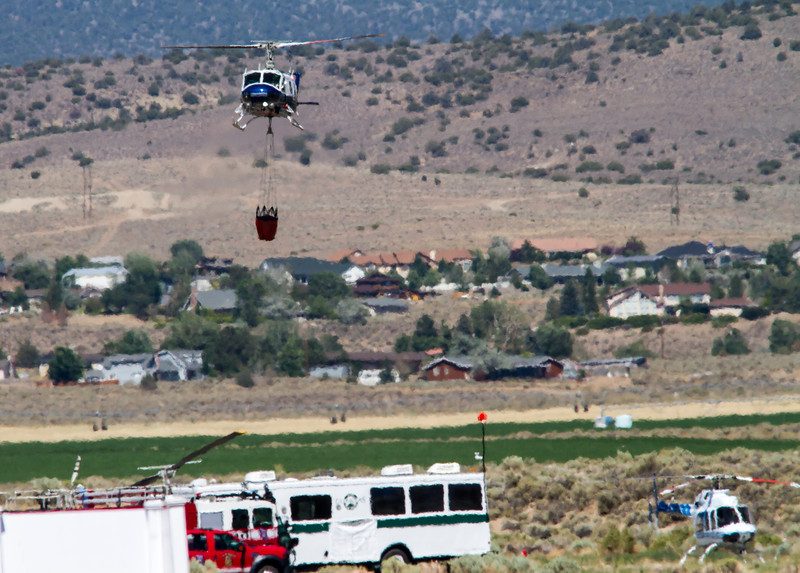 Bison Fire Saturday July 6, 2013 (4778) Fire helicopter and portable Single Engine Air Tanker (SEAT) base at the Minden-Tahoe Airport