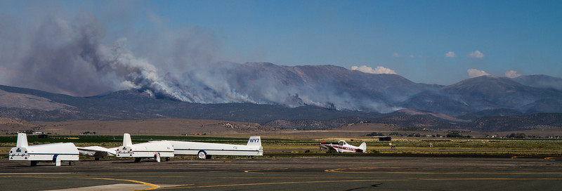 Bison Fire Saturday July 6, 2013 (4847) Fire helicopter and portable Single Engine Air Tanker (SEAT) base at the Minden-Tahoe Airport