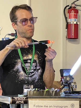 Eric, the glass blower
