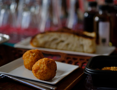 Homemade Arancini ; warm happy