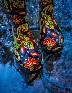 Psychedelic rain wear