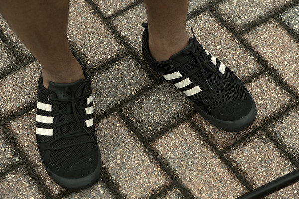 water shoes on pavers