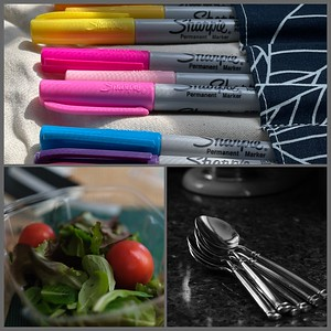 S is for... Sharpies, Salad  and Spoons