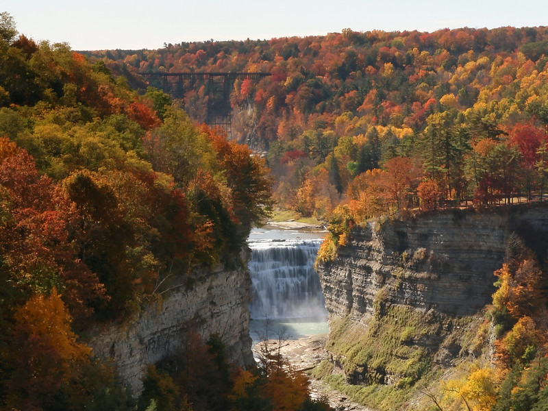 Letchworth State Park - The view from Inspiration Point - October 15, 2008