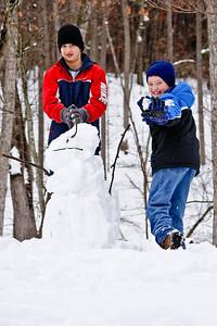 Snowman in progess