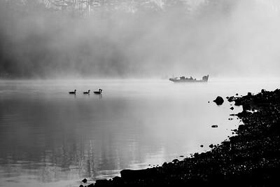 Morning Fog over Pickwick Lake