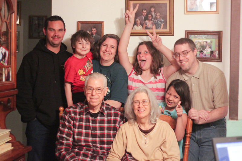 Day 062 Family | My parents, my brother, my nephew, and my kids. Photo taken by my husband.