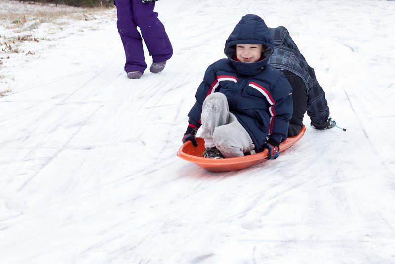 Day 025 sledding