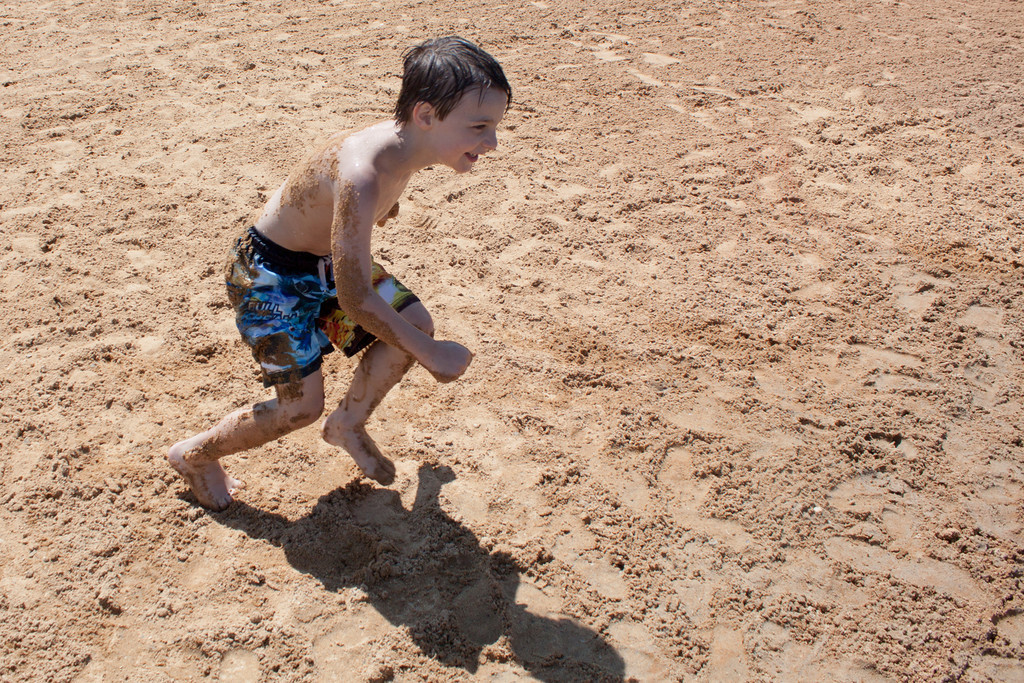 Running to Wash Off the Sand