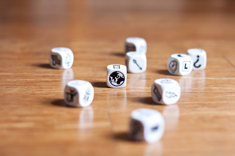 Day 013 story dice and excellent example of depth of field