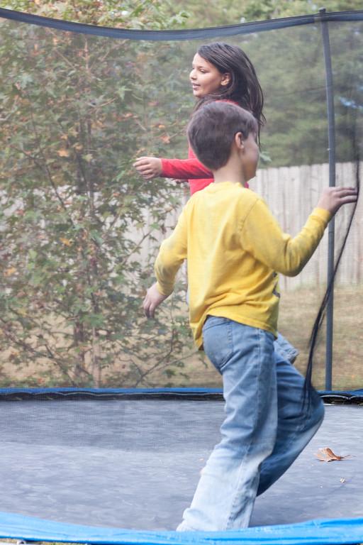 Jumping in the Backyard