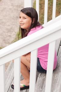 Caroline on the Porch Steps
