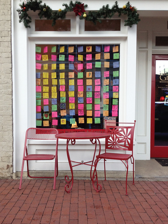 Love Sticky Notes Window Display