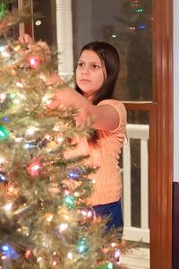 Caroline Set Up The Tree